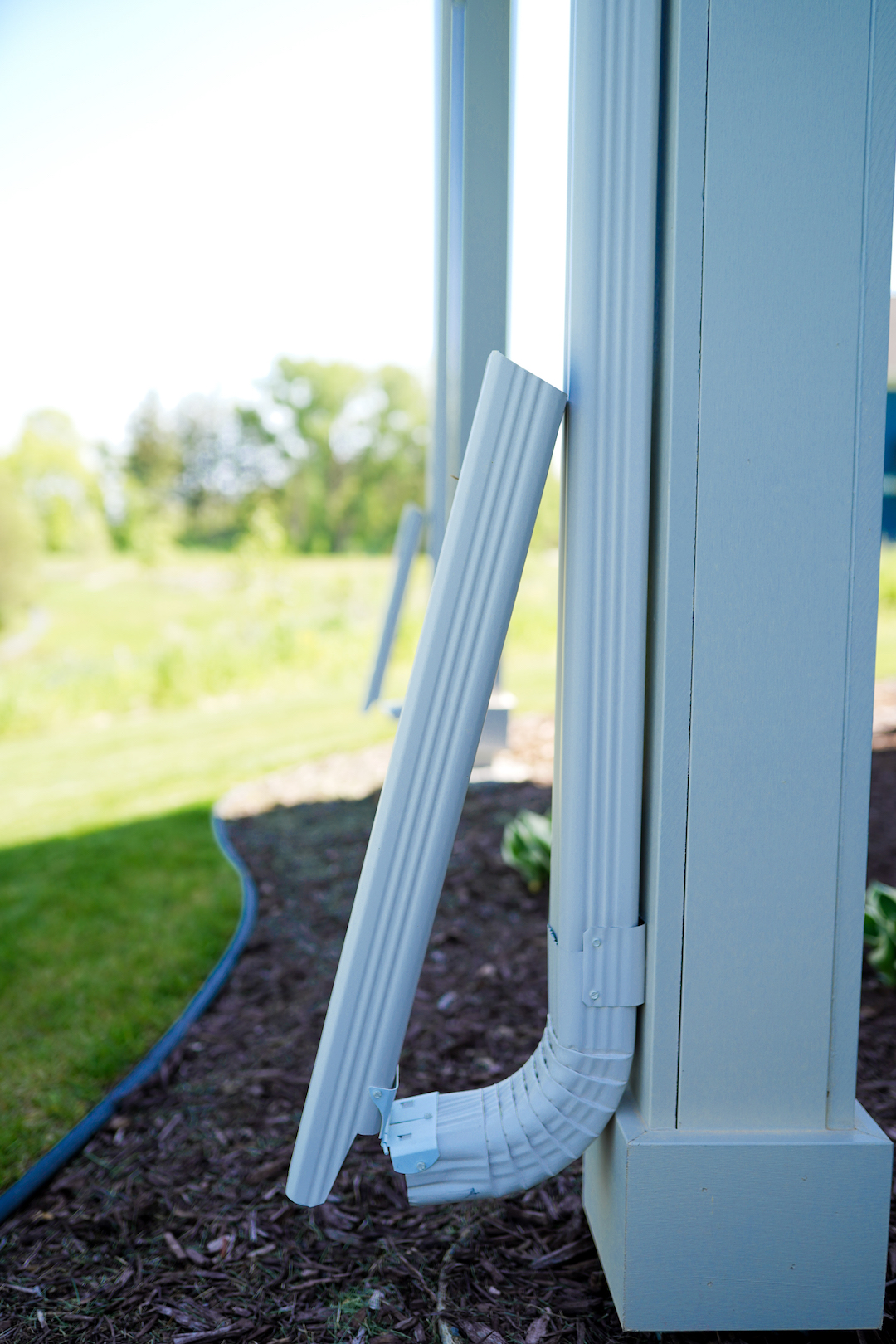 Can I Get Gutter Downspouts That Don T Stick Out Into My Yard Good To Go Gutters